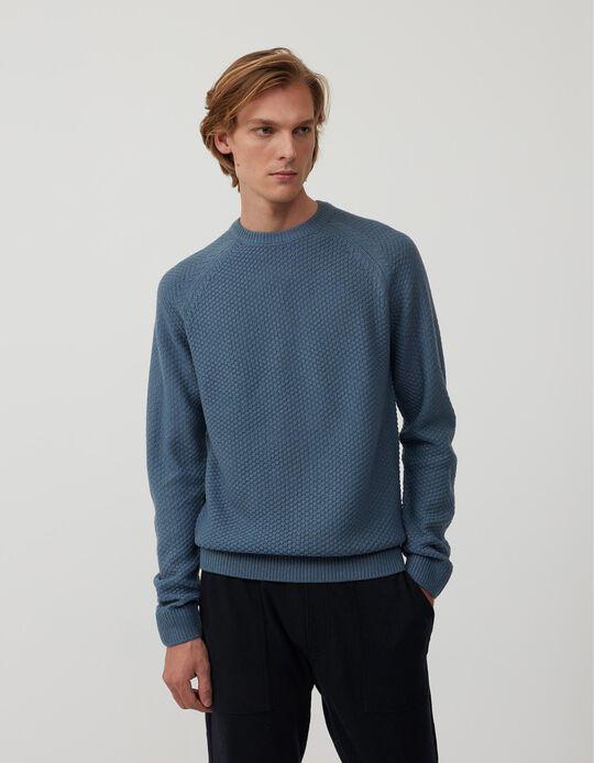 Camisola de Malha, Homem, Azul