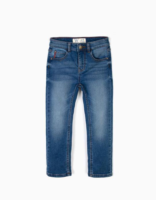 Medium tone slim leg jeans