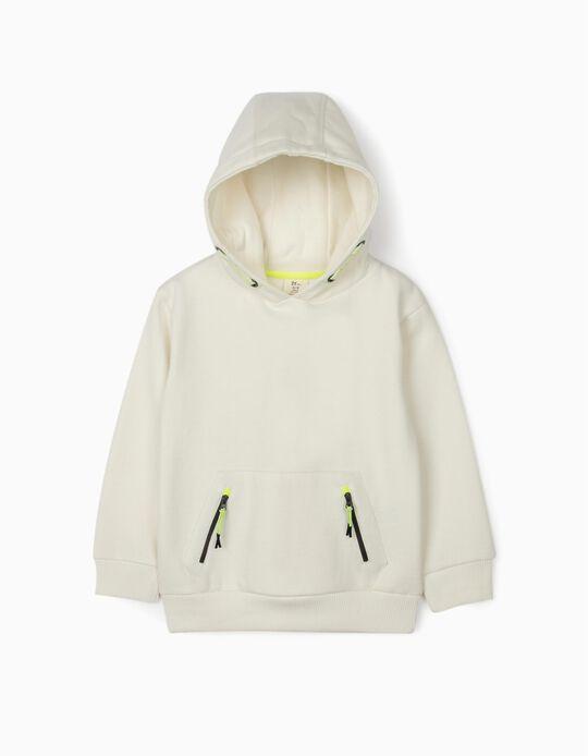 Hooded Sweatshirt for Boys, White