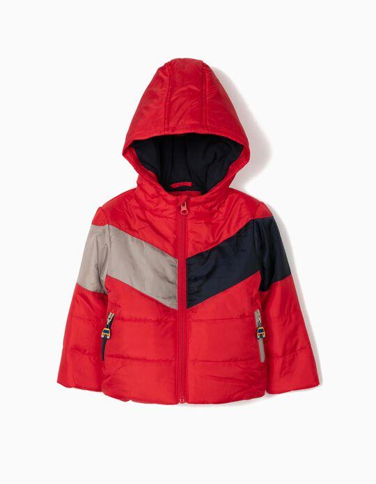 Padded Jacket with Polar Fleece Lining