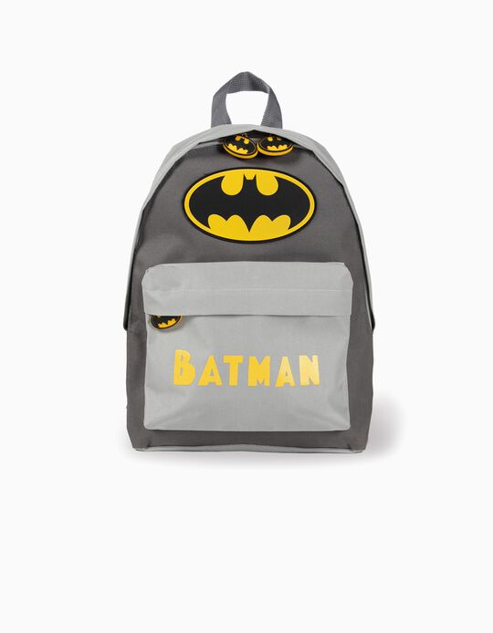 'Batman' Backpack for Boys, Grey