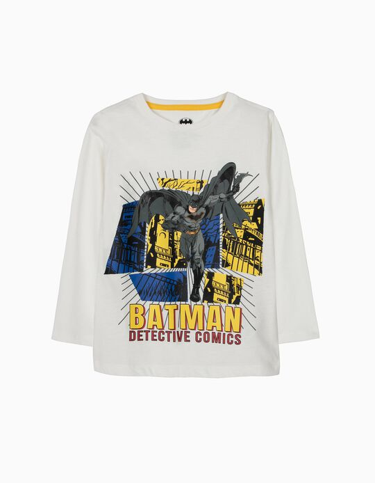 T-shirt Manga Comprida Batman Branca