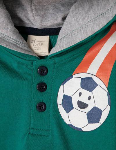 Sweatshirt com Capuz Football