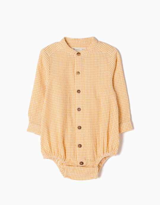 Yellow Shirt-Bodysuit, Checks