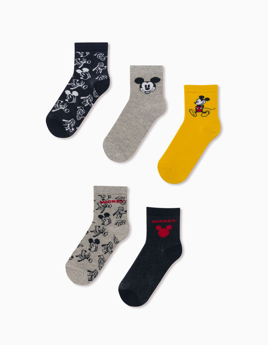 5 Pairs of Socks for Boys, 'Mickey & Friends', Multicoloured