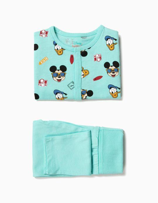 Body e Calças para Bebé Menino 'Mickey & Donald', Azul