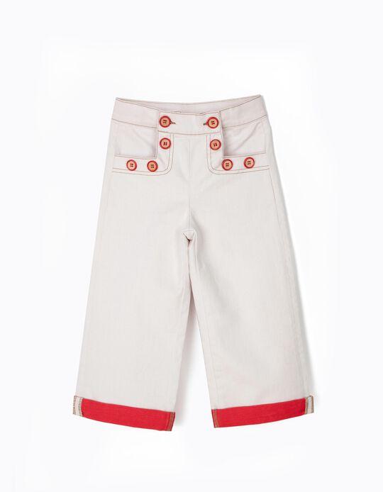 Calças Largas para Menina, Branco