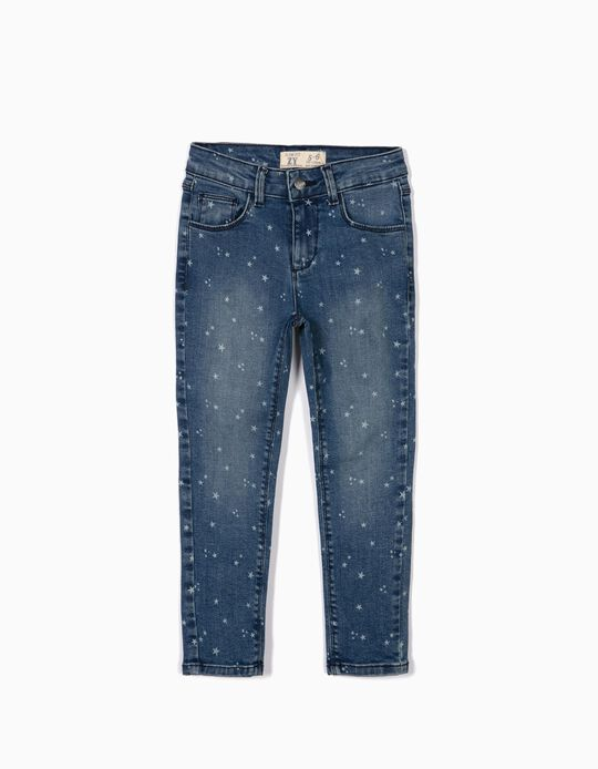 Denim Jeans for Girls 'Stars', Blue