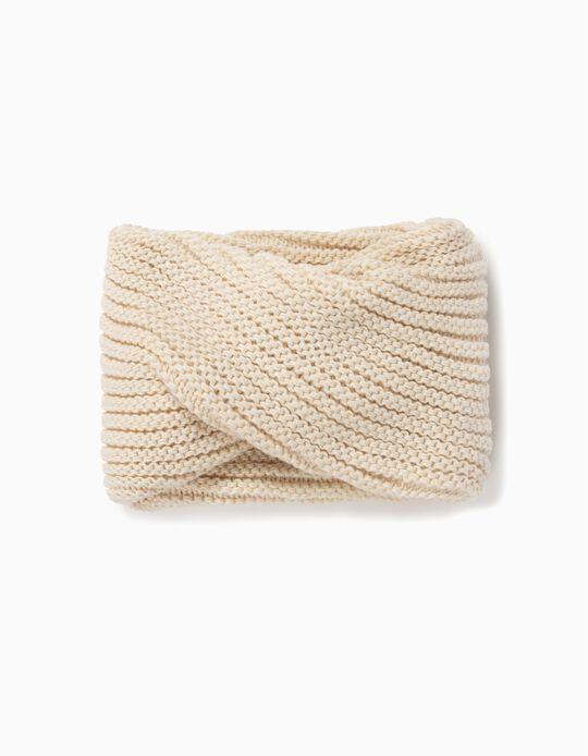 Gola com tricotado canelado