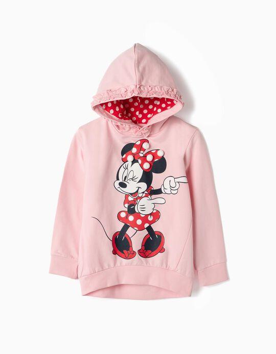 Sweatshirt com Capuz para Menina 'Minnie', Rosa