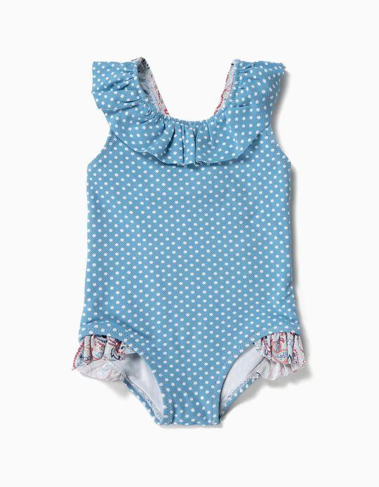 Fato de Banho para Bebé Menina 'Dots & Paisley', Azul