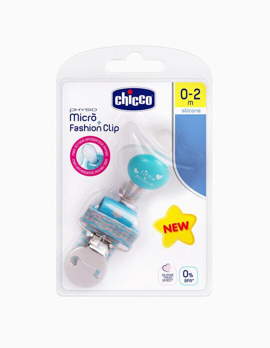 Conjunto de Clip e Chupeta Silicone 0-2m Chicco