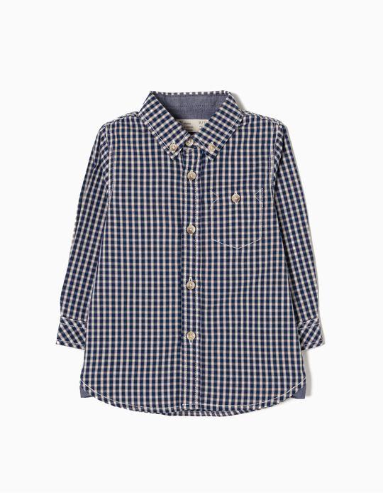 Camisa Popeline Xadrez