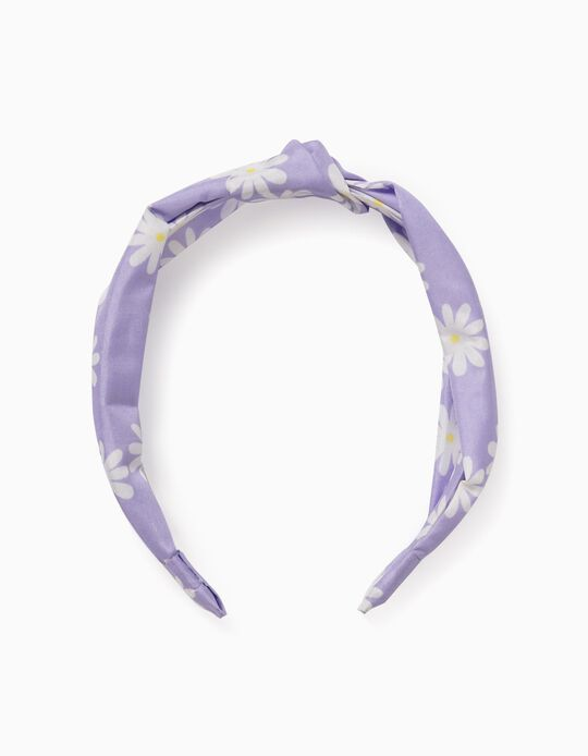 Alice Band for Girls, 'Flowers', Lilac
