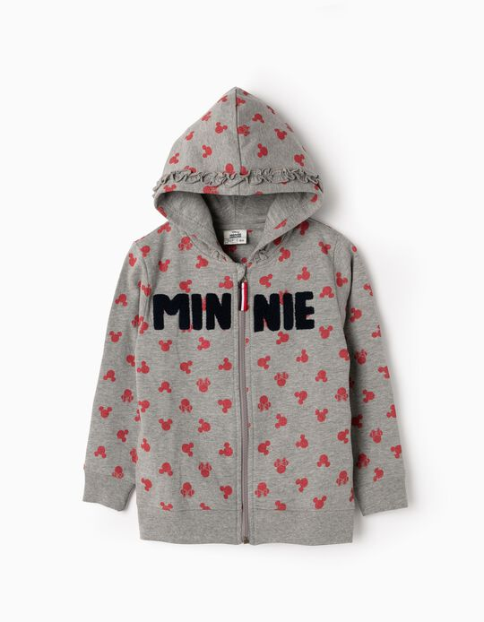 Casaco com Capuz para Menina 'Minnie', Cinza
