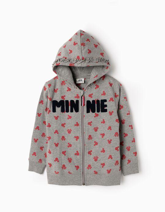 Hooded Fleece Jacket for Girls 'Minnie', Grey