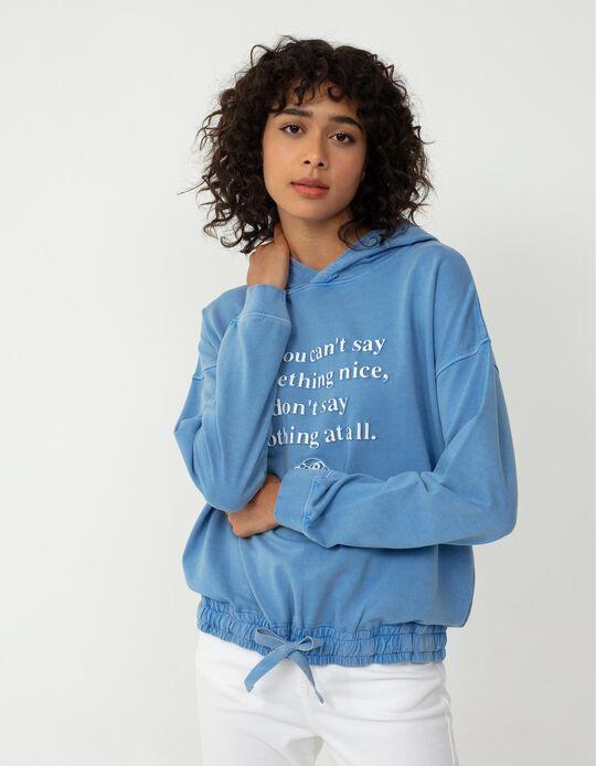 HOODIE SWEAT THUMPER, BLUE, S