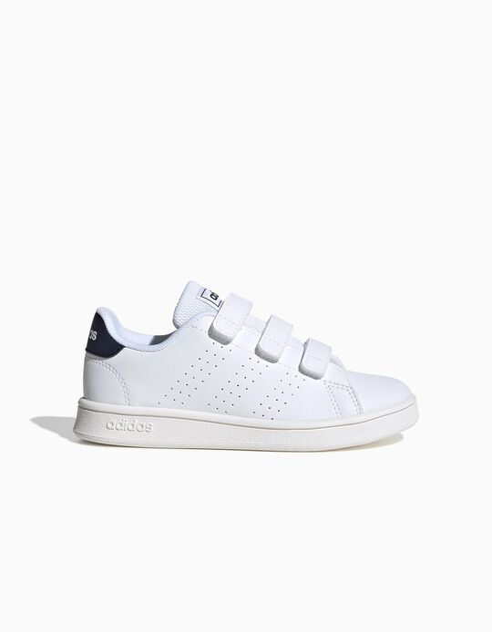 Trainers for Children, 'Adidas Advantage', White/Blue