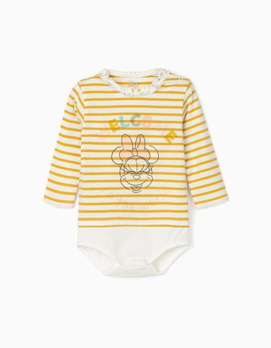 Body for Newborn Baby Girls 'Minnie', White/Yellow