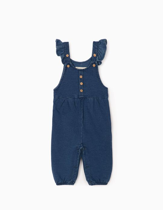 Jumpsuit for Newborn Baby Girls 'Comfort Denim', Blue