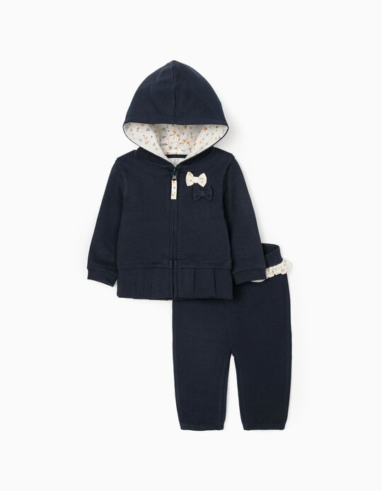 Tracksuit for Newborn Baby Girls, Dark Blue