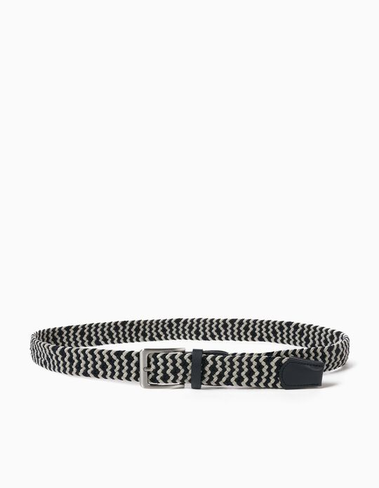 Braided Belt for Men, Blue