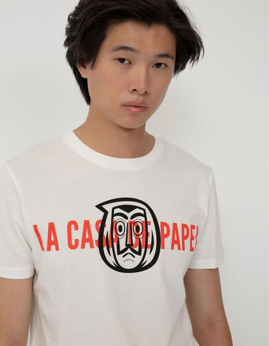La Case de Papel' T-shirt for Men, White