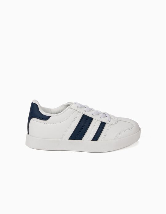 Sneakers for Kids 'ZY Retro' with Stripes, White and Blue