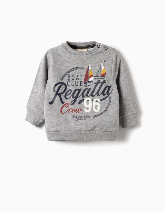 Sweatshirt para Bebé 'Regatta Crew 96', Cinza