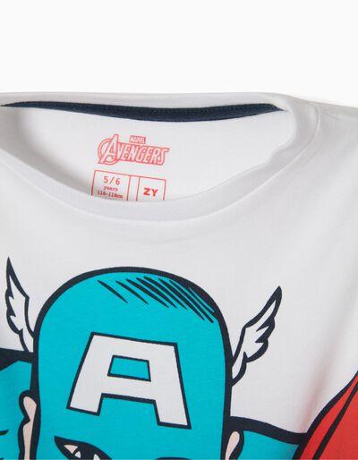 T-shirt Captain America Branca