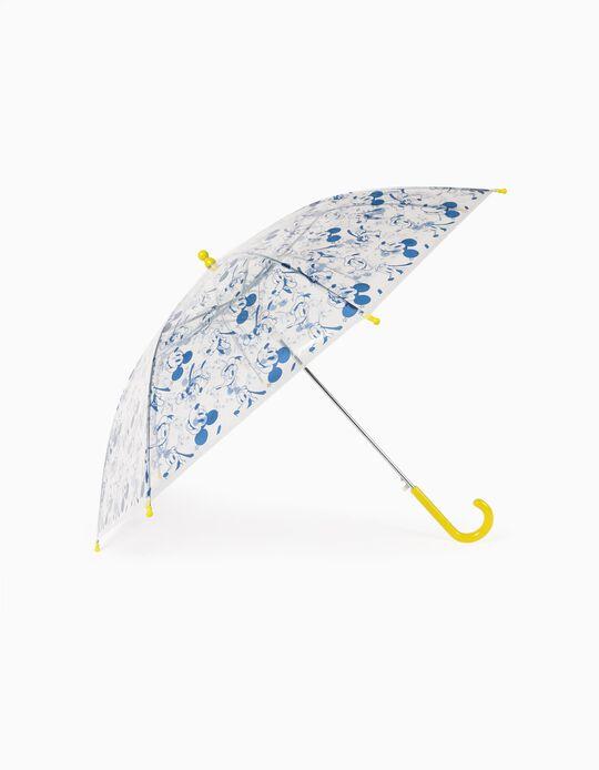 Umbrella for Boys 'Mickey', Transparent/Yellow