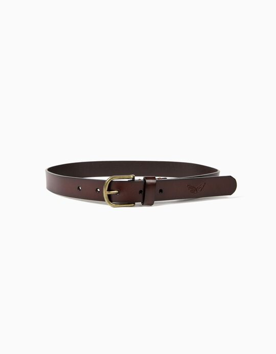 Faux Leather Belt, Brown