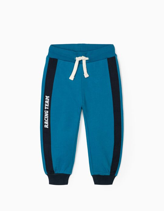 Joggers for Baby Boys 'Racing Team', Blue