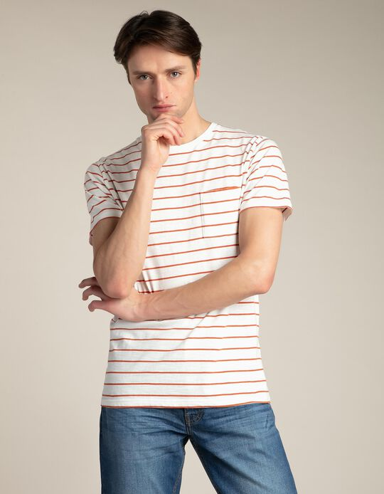 Striped slub T-shirt