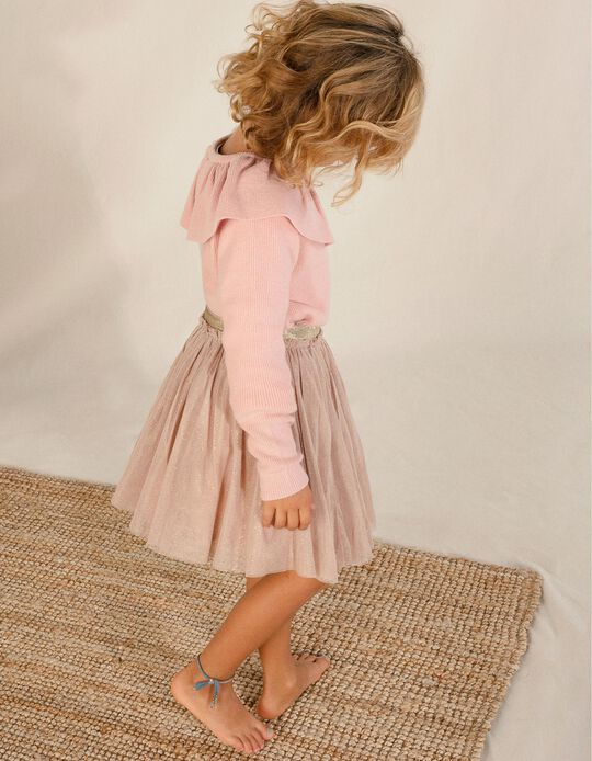 Tulle Skirt for Girls, Pink