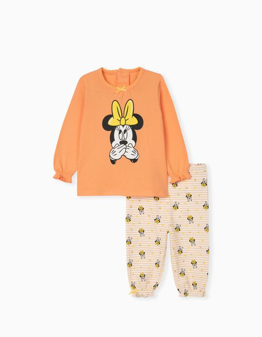 Pijama Disney, Bebé Menina, Laranja