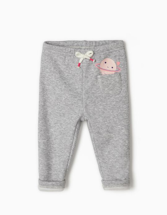 Grey Joggers for Baby Girls 'Saturn', Grey