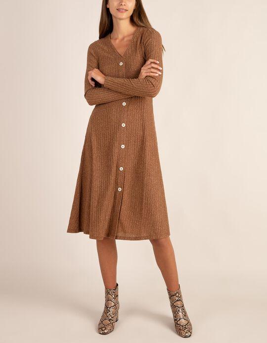Vestido em malha canelada