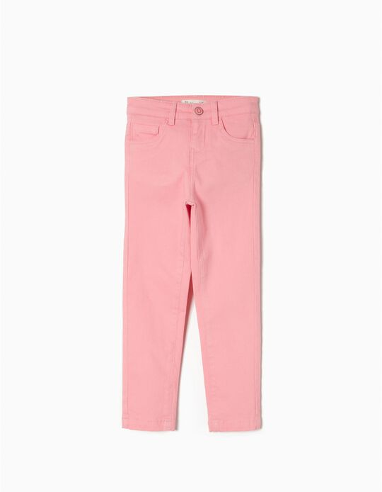 Twill Pants for Girls, Pink