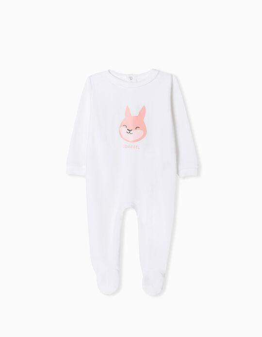 Velour Sleepsuit, Babies, White