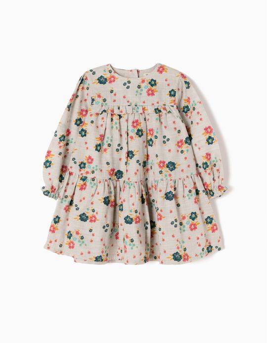 Loose-Fitting Dress, Flower & Ruffles