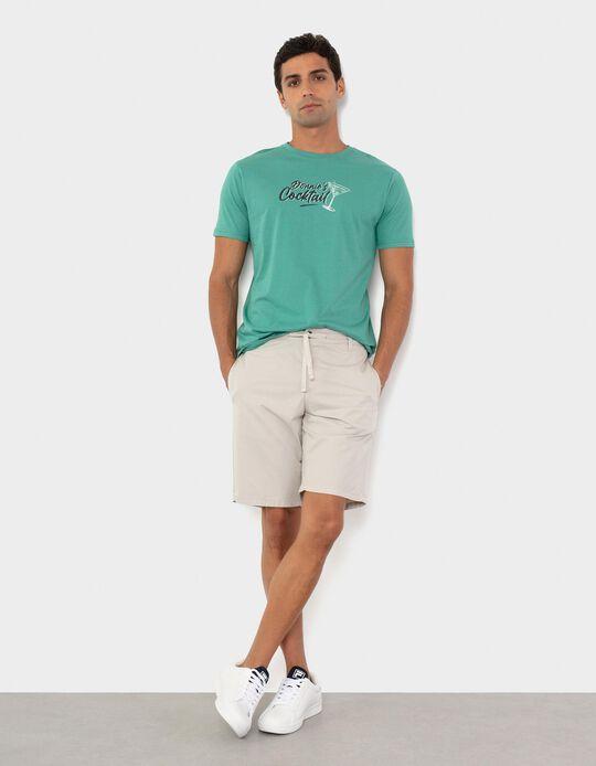 T-shirt de Algodão, Homem, Verde