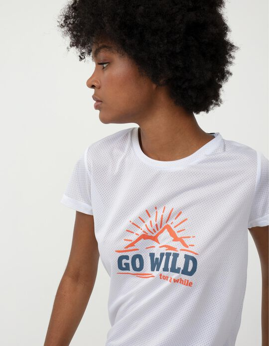 Techno Trekking T-shirt for Women, White