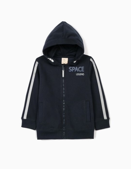 Hooded Jacket for Boys 'Space Legend', Dark Blue