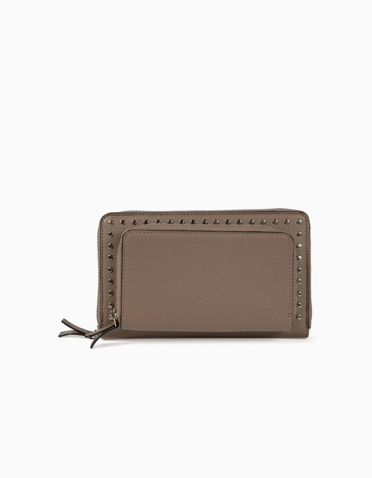 Studded double wallet