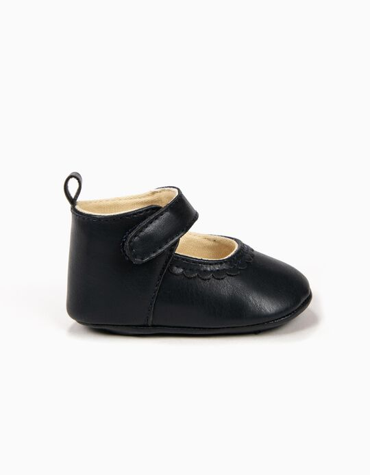 Shoes for Newborn Girls, Dark Blue