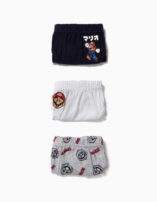 Pack 3 Cuecas Super Mario