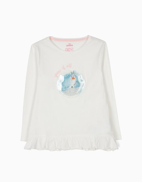 T-shirt Manga Comprida Olaf Frozen II Branca