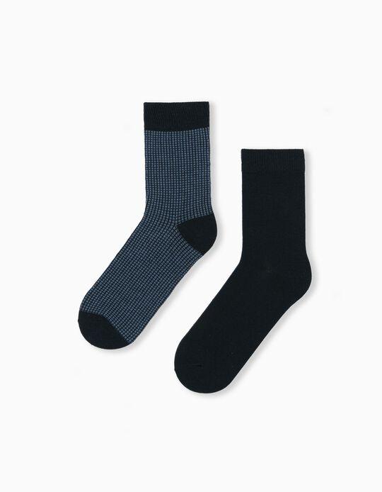 2 Pairs of Socks for Men, Blue