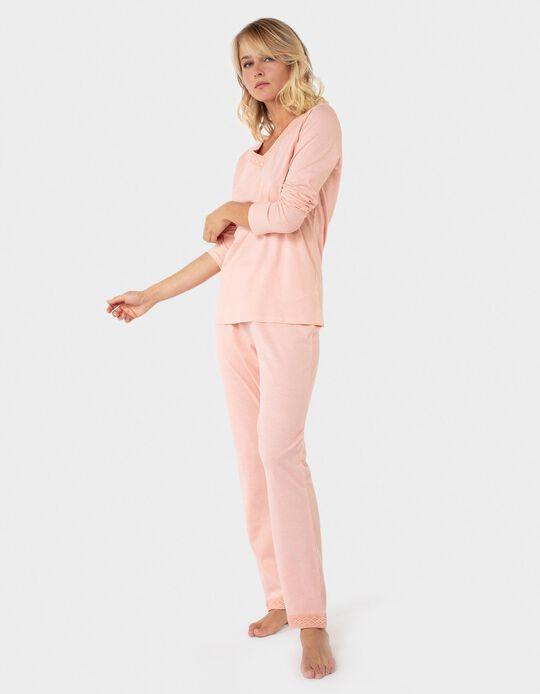 Conjunto de pijama decote renda